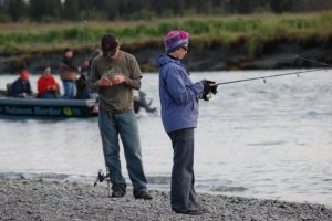 The common thread connects families.   The only time my mother ever fished with us.
